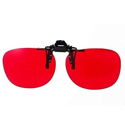 Zryh Color Blind Corrective Glasses for Red-Green Blindness, Clip-on Glasses for Color Vision Disorder, Color Weakness, Unisex, Frameless Lens