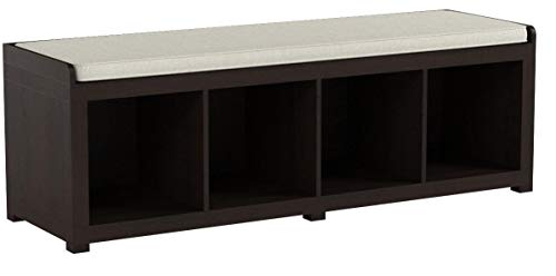 Better Homes and Gardens Storage Organizer Bench, (4-Cube, Espresso)