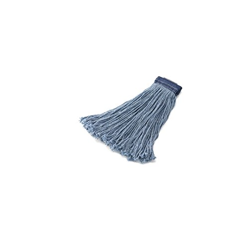 Rubbermaid Commercial Products FGF55800BL00 Premium 8-Ply Cut-End Blend Mop, 24 oz, 5'' Blue Headband (Pack of 12) by Rubbermaid Commercial Products