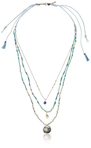 Chan Luu Multi-Blue Beaded Strand Necklace, 17'' by Chan Luu