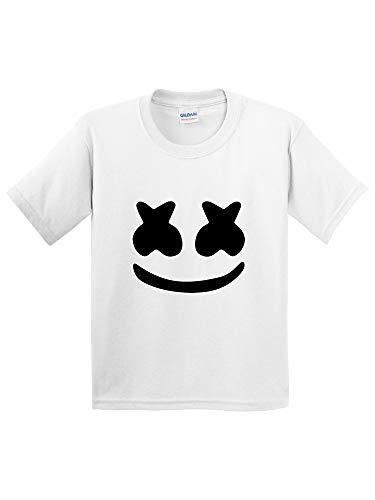 New Way 1136 - Youth T-Shirt Marshmello DJ Smiley Face Medium White