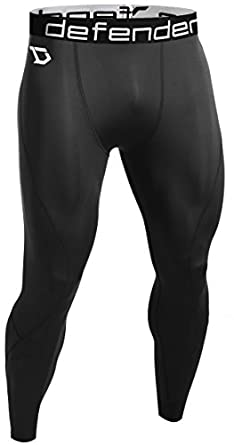 Defender Men's Thermal Wintergear Compression Baselayer Pants Leggings Tights