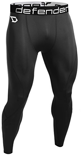 Defender Men's Compression Baselayer Pants Legging Shorts Tights Basketball BB_L