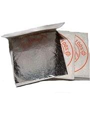 lotto da 10 fogli argento alimentare, 40 X 40 mm, 100% commestibile