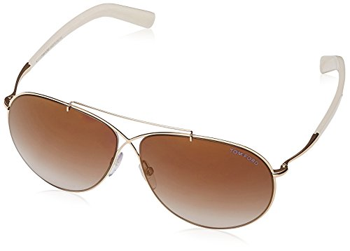 Tom Ford Womens Eva Sunglasses (FT0374) Pink/Brown Metal - Non-Polarized - - Spectacle Frames Ford Tom