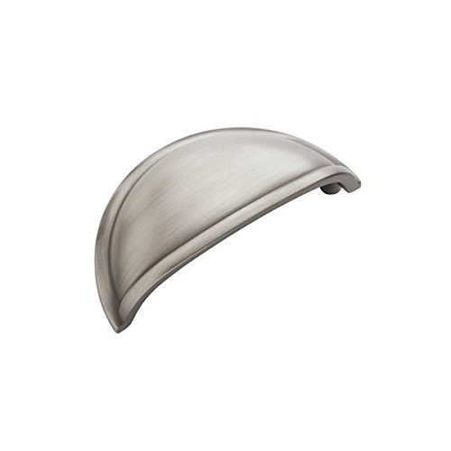 Amerock Cup Pull - Amerock BP53010-G10 3-Inch Satin Nickel Cup Cabinet Hardware Pull, 15 Pack
