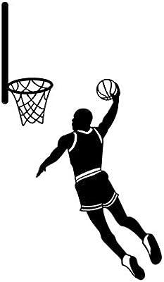 Sticker de carro 9,3 * 16,1 cm silueta de baloncesto etiqueta ...