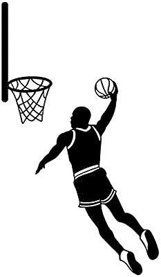 Sticker de carro 9,3 * 16,1 cm silueta de baloncesto ...