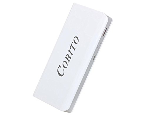 Power bank 15000 mAh Dual very fast Charge 2-Output Portable External Battery Charger for iPhone 7/6/5/4, iPad, iPod, Samsung 7/6/5/4, Smart Phones, White.