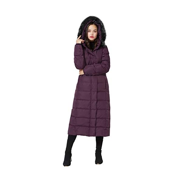 7c5f30c36 Molodo Women's Long Down Coat with Fur Hood Maxi Down Parka Puffer ...
