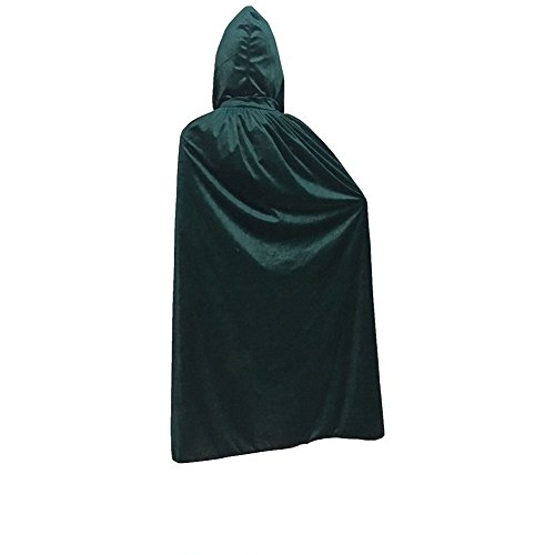 Adult Poncho Green M & M's Costumes (Unisex Velvet Like Cape for Costume Party Green,110cm)