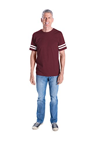LAT Apparel Adult one hundred% Adult Vintage Football Jersey Tee Short Sleeve T-Shirt – DiZiSports Store