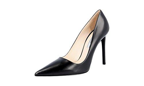 Prada Women's 1I221F Black Leather Pumps/Heels EU 37.5/US (Prada Black Pumps)