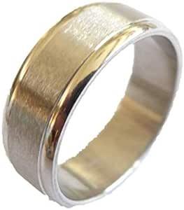 خاتم معدن للرجال، فضي - 1164 - 18 - 4