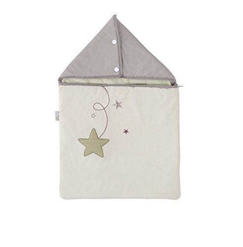 P'tit Basile - Nid d'ange brodé en coton Bio Pluie d'étoiles. 0-3 mois 65 cm P' tit Basile