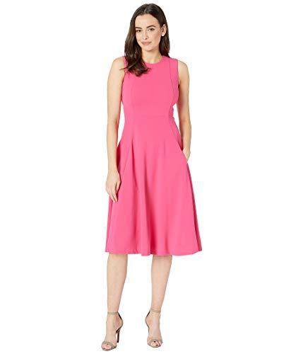 Calvin Klein Pleated Neckline Dress - Calvin Klein Women's Solid A-Line Dress with Pockets CD8C12JY Cabaret 4