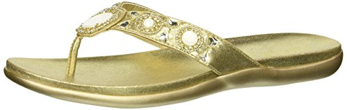Reaction Kenneth Cole Glam-athon 2 Thong Sandal Champagne