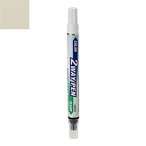 ExpressPaint 2WayPen - Automotive Touch-up Paint for Lincoln MKZ - Light Sage Effect Clearcoat NH - Color + Clearcoat Only