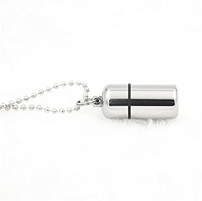 Upgrade A+ Gr5 Titanium Mirror Polish Waterproof Pill Box Pendant Capsule Tablet Container+Mini Key Ring Bead Necklace EDC Survival Tool S from A+ Titanium