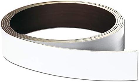 Franken LS10 Lagerschilder-Rollenware (magnetisch, Höhe 10 mm, Stärke 0,8 mm) weiß
