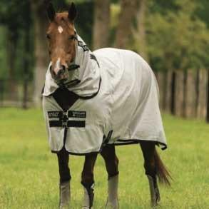 [해외]Horseware Amigo Stock Horse 실버 블랙 플라이 시트 78/Horseware Amigo Stock Horse Silver Black Flysheet 78
