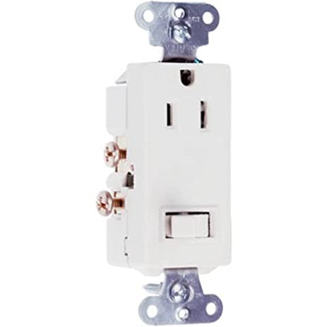 Legrand-Pass & Seymour 681WCC6 Combo Decorator 15-Amp Switch-120 ...