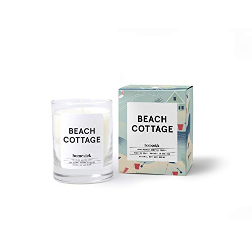 Homesick Mini Scented Candle (10 to 12 hr Burn Time) Home 1.5 oz Beach Cottage (Best Beach Scented Candle)