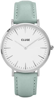 CLUSE La Boh me Silver White Pastel Mint CL18225 Women s Watch 38mm Leather Strap Minimalistic Design Casual Dress Japanese Quartz Elegant Timepiece