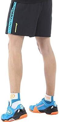 Bull padel Pantalon Corto BULLPADEL IMUTES Negro Azul: Amazon.es ...