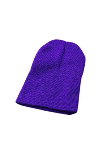 Wolleschutzkappe - TOOGOO (R) Winter Beanie Knit Warme Ski Kappe Wolle Strickmuetze (lila)