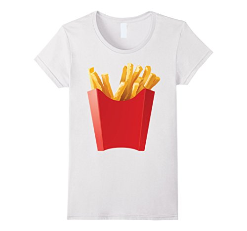 Stay At Home Mom Costume For Halloween (Womens GIANT FRENCH FRIES Shirt makes a great Halloween Costume Medium White)