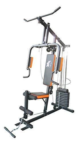 F4H casa Multi Gym ES-403 tonificación estación fuerza máquina de musculación multicolor Rojo y negro: Amazon.es: Deportes y aire libre