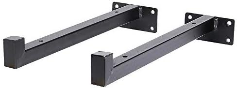 金属棚 サポート コーナ ホーム&ガーデンシェルフブラケットウォールマウントブラケットサポートホームデコレーションの4つの小品 三角固定サポート (色 : Black, Size : 25cm)