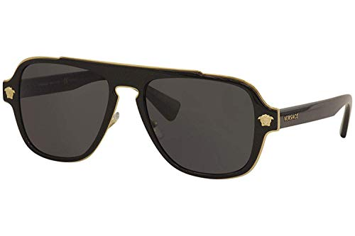 Versace Man Sunglasses, Black Lenses Metal Frame, ()