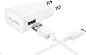 Samsung SAEPTA12EW - Transformador, cable micro USB, color blanco- Version española: Amazon.es: Electrónica