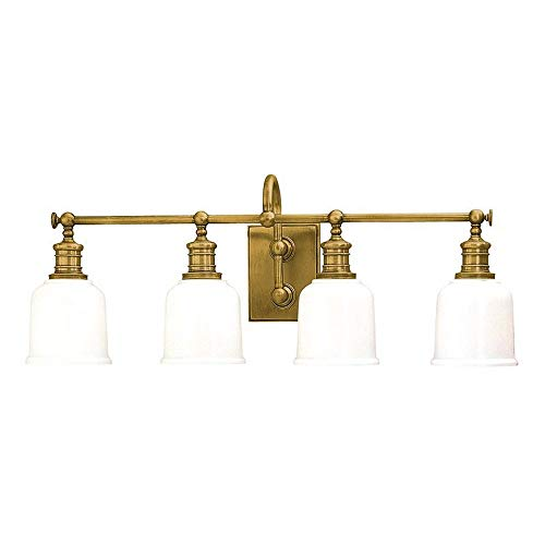 Hudson Valley Lighting 1974-AGB Keswick Collection - Four Light Wall Sconce, Aged Brass