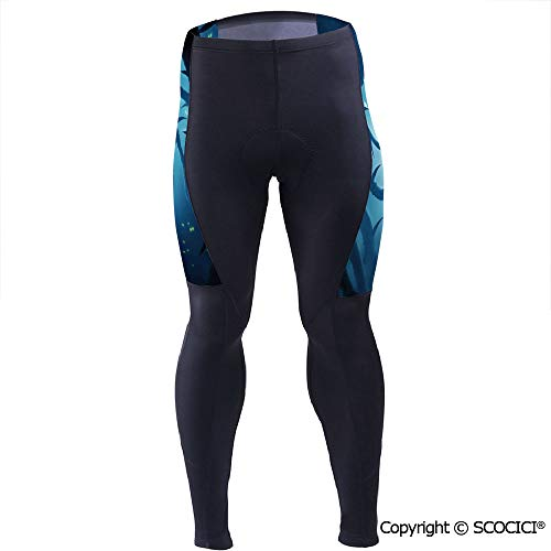 Outdoor Cyclist Bicycle Pants Riding Bike Wear,Animal with Burning Eyes in Dark