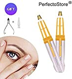 PerfectoStore Rechargeable Eyebrow hair Trimmer Epilator for Women, Eye brow Remover Painless Facial Brows Hair Removal with LED Light for Good Finishing and Well Touch As Seen on TV