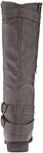 and M Regular Calf Zipper Women's Hansel Grey Rampage US 7 Riding Knee B High Buckle Boot q7t1wa