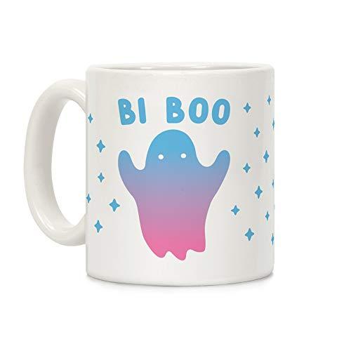LookHUMAN Bi Boo Ghost White 11 Ounce Ceramic Coffee Mug]()