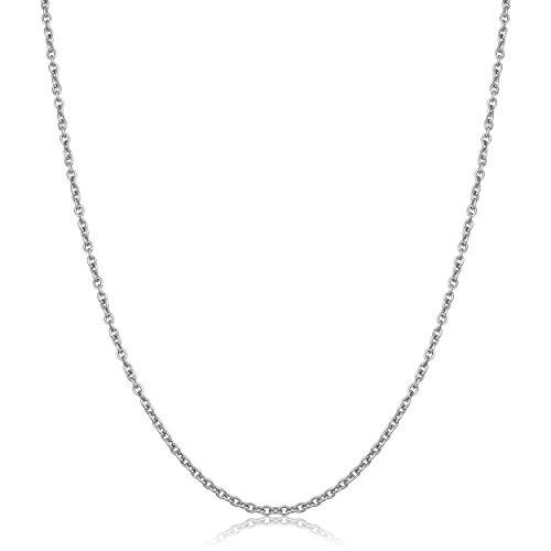 950 Platinum Cable Chain Necklace (1.4mm, 20 (Womens Platinum 950)