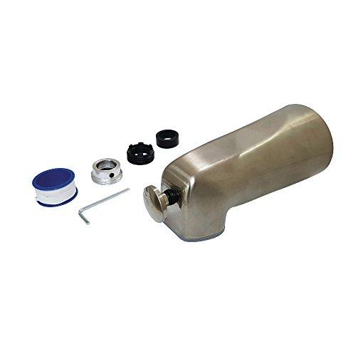 Spout Hardware - Kingston Brass K1263A8 Showers Cape Universal 5-1/2-Inch Zinc Tub Spout with Diverter, 5-7/16