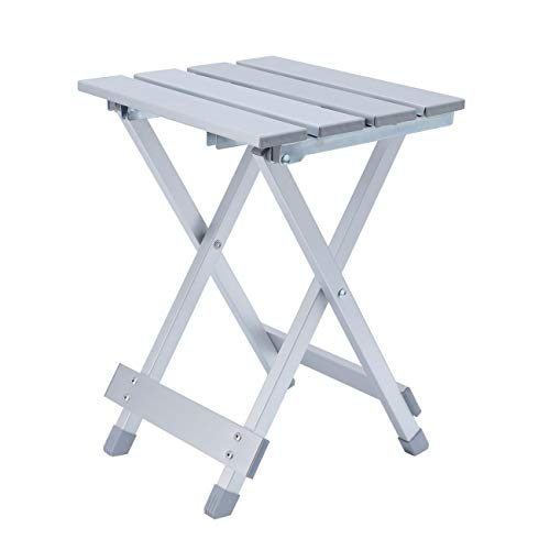 Dyna-Living Portable Camping Side Tables with Aluminum Table Top for Picnic, Camp, Beach, Boat, Useful for Dining & Cooking with Burner by Dyna-Living