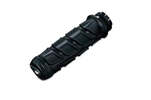 Kuryakyn 6376 Premium Kinetic Handlebar Grips for Kawasaki, Suzuki, Victory & Yamaha Motorcycles, Gloss Black, 1 Pair