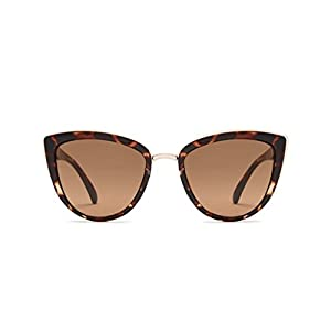 Quay Australia MY GIRL Women's Sunglasses Oversized Cat Eye and Metal Frame