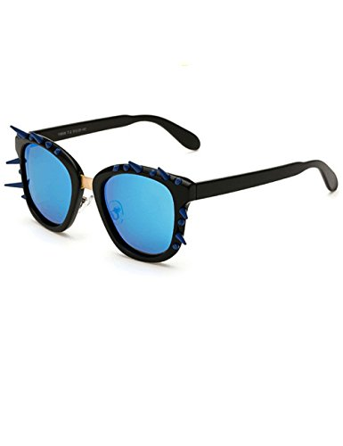 LIKEOY Unisex Polarized Personalized Rivet Rimmed Sunglasses with Plastic Frame A3
