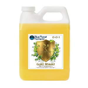 Blue Planet Nutrients Gold Shield Silica Supplement Quart (32 oz) | Hydroponic Aeroponic Soil Coco Coir | Strengthen Plants | For All Garden Types