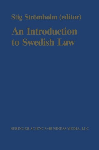 An Introduction to Swedish Law: Volume 1