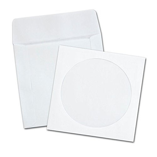 - Quality Park CD/DVD Envelopes, White, Pack of 100 (62903)