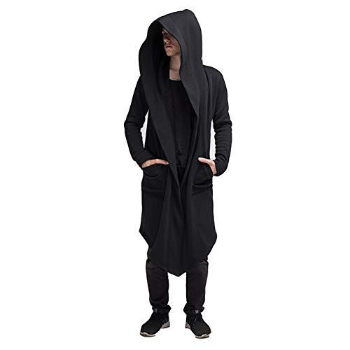 Men's Autumn Cardigan Hoodie Warm Hooded Coat Jacket Burning Man Costume Cosplay (XL, -